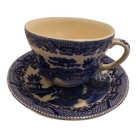 Blue Willow Large Chili Cup and Saucer