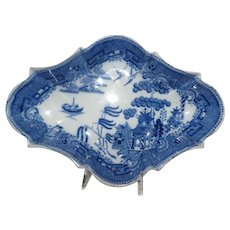 Blue Willow Relish Dish