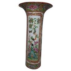 Rose canton Cylinder Vase