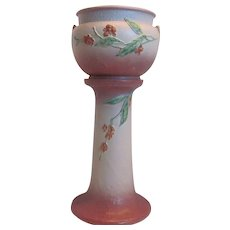 Roseville Pottery Jardiniere and Pedestal