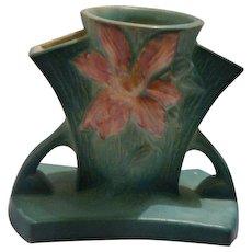 "Roseville Pottery Green ""Clematis"" vase"