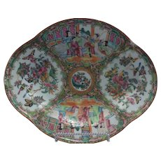 Chinese Export, Rose Medallion Dish
