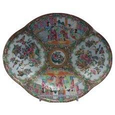 Chinese Export, Rose Medallion Dish