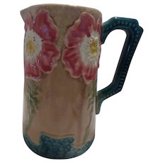 Majolica Art Nouveau Pitcher
