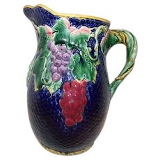 Majolica Large French Pitcher