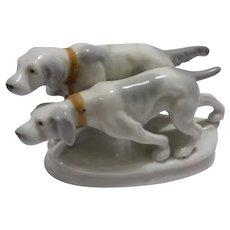 Hunting Dogs Figurine, Vintage