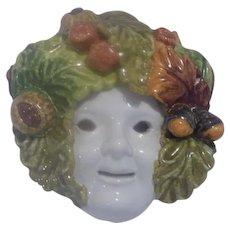 Italian Majolica Face Mask