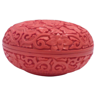Cinnabar Lacquer Covered Box