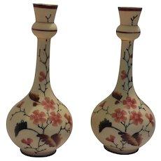 Bristol Glass Vases/Candlesticks