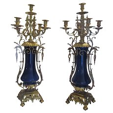 19th Century Pair of Candelabras