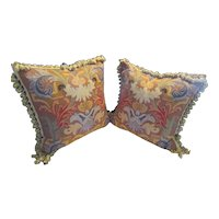Pair French Aubusson Pillows