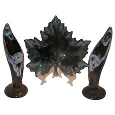 Van Briggle Pottery, Leaf Dish & Bird of paradise