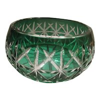 Green cut to Clear Center Bowl