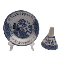 Blue Willow Tip dish & Funnel