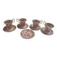 English Teacups and Saucers