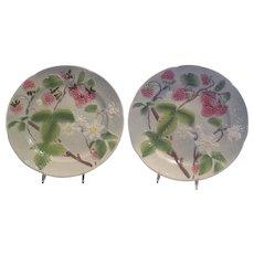 Majolica St. Clement Raspberry Plates