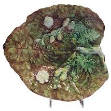 Majolica Leaf Tray