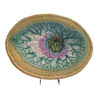 Majolica, Large  Leaf Platter