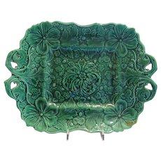 Majolica Greenware  Platter