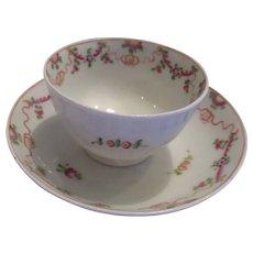 New Hall Pottery Tea Bowl and Saucer