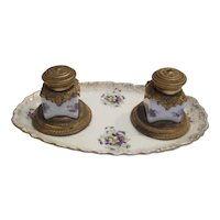 Double Inkwell By Limoges