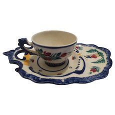 Quimper Cup and Saucer