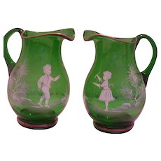 Mary Gregory Water Pitchers