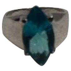 Blue Topaz/Sterling Ring