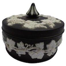 Wedgwood Black Jasperware Trinket Box