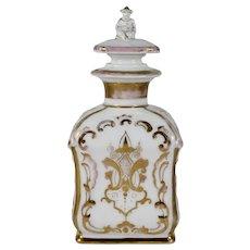 c 1850 Carl Teilsch German Porcelain Cologne Perfume Bottle, Chinoiserie