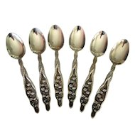 Set of 6 Antique Whiting Sterling Spoons 1885