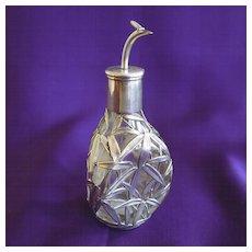 Vintage Sterling Overlay Perfume Bottle