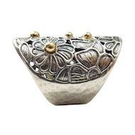 14k Gold & Hammered Sterling Ring