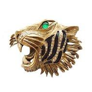 Hattie Carnegie Roaring Tiger Pin