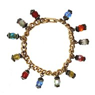 Unusual costume bracelet with lucite beads
