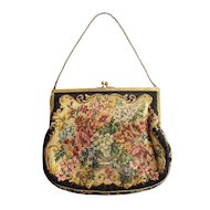 1920's Vintage Micro Petit Point Purse