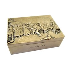 Antique Silver Snuff-Trinket-Pill Box