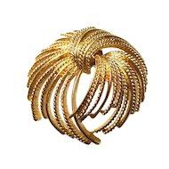 Vintage Monet Gold Tone Mirador Brooch