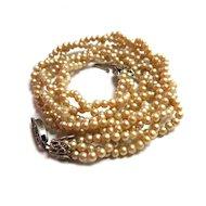 Vintage Child's Triple Strand Faux Pearl Necklace