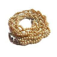 Vintage Child's Triple Strand Faux Pearl Necklace