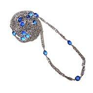 """Vintage Coro Silver 60"""" Necklace"""