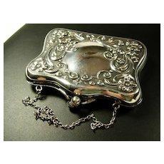 Stunning Art Nouveau Silver Plated Change Purse