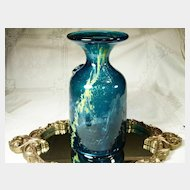 "Early Signed ""Mdina""  Art Glass Vase"