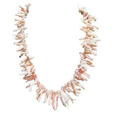 Magnificent Angel Coral Branch Necklace