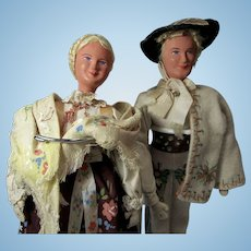 Pr. of European Ethnic Composition Dolls