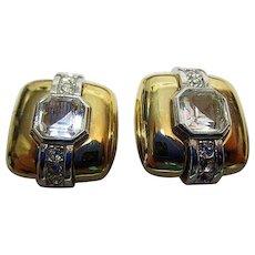 Vintage, Signed D'ORLAN, Gold Filled, Large Clip Earrings