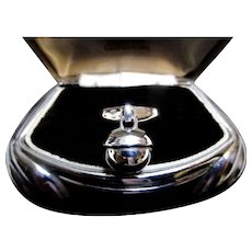 Georg Jensen Sterling 'Sphere' Ring No. 473A