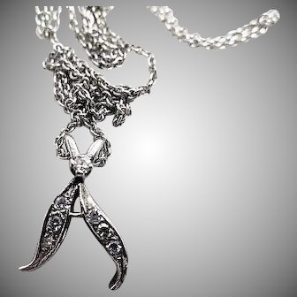 Dazzling 14K White Gold and Diamonds Pendant Necklace