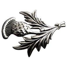 DANECRAFT Sterling Scottish Thistle Brooch