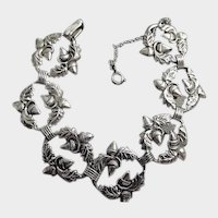 DANECRAFT Sterling Silver Acorn and Oak Leaf Bracelet